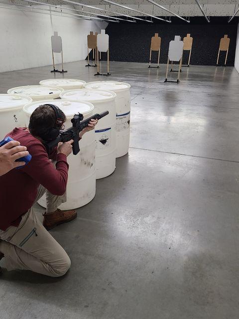 firearms drill class at wichita gun range